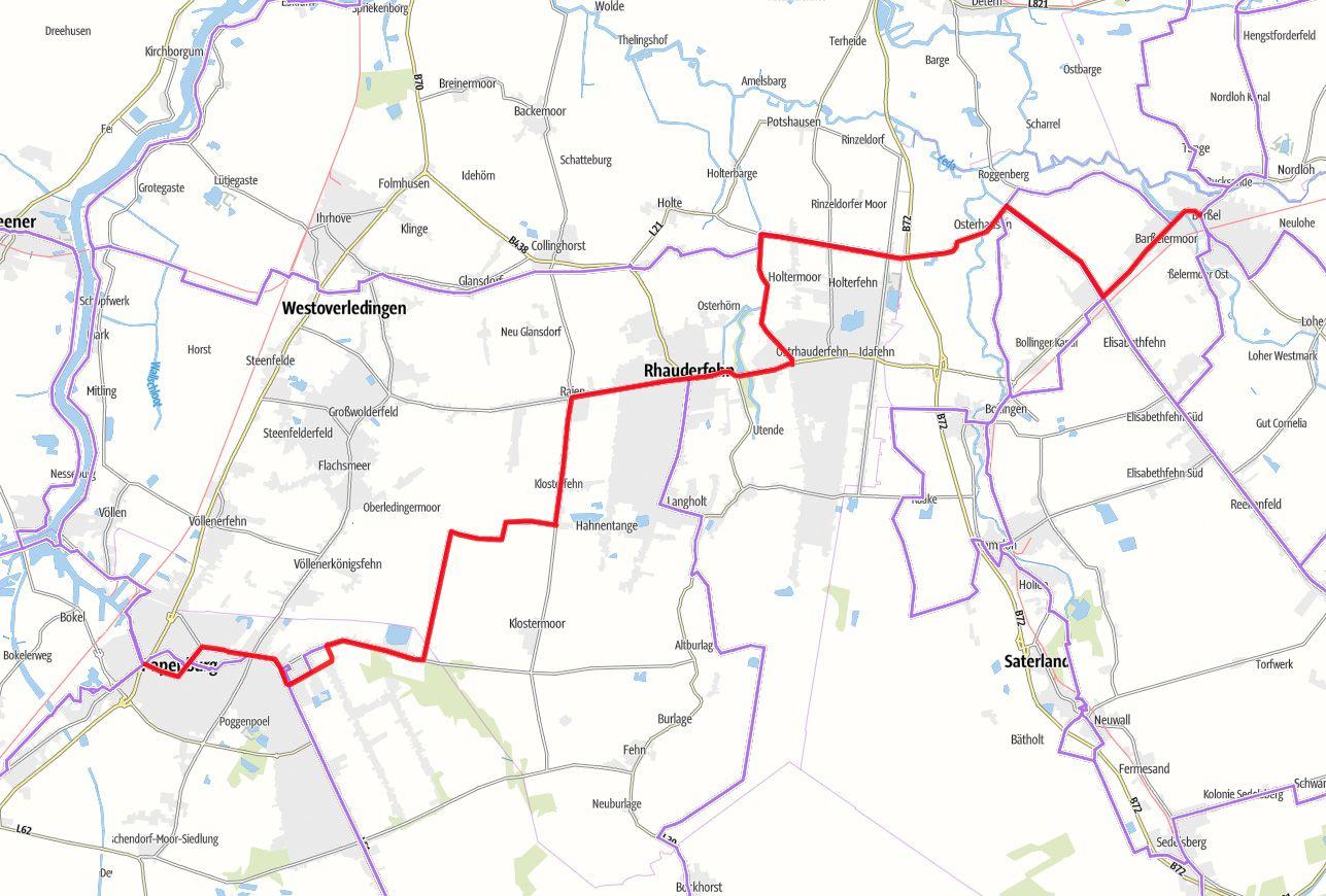 Karte Fehnroute Etappe 3