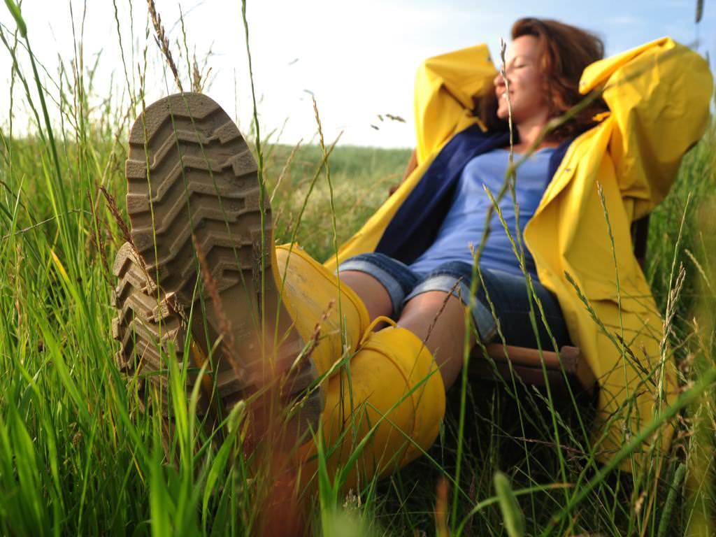 Pause im Gras
