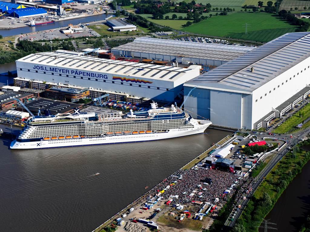 Luftaufnahme Meyer Werft